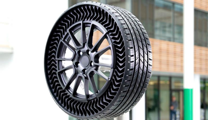 ¿Un neumático sin aire? Sí, Michelin los imprime en 3D