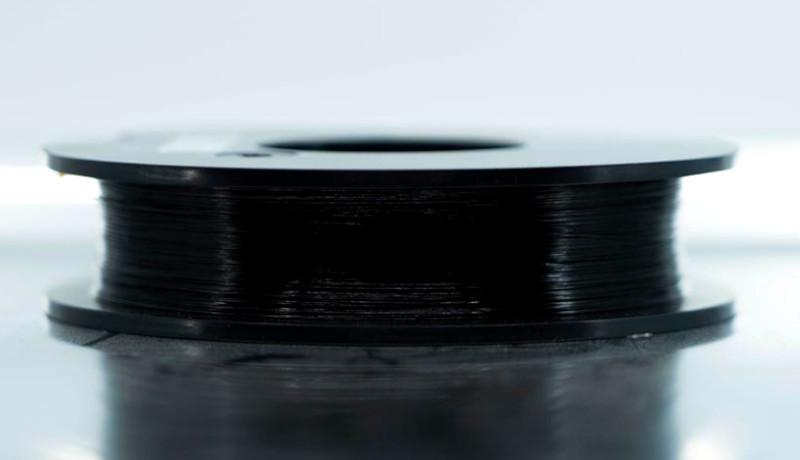 La fibra de carbono dentro dentro de la impresión 3D